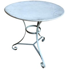 French Zinc Top Bistro Table