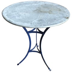 Small French Zinc-Top Bistro Table