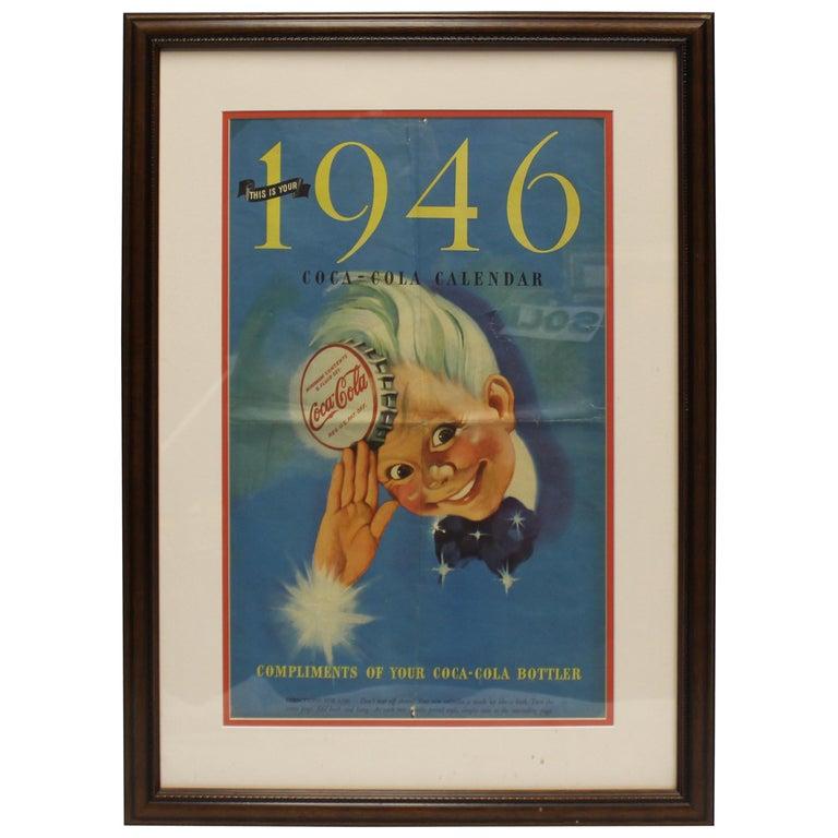 1946 Original Coca Cola Calendar \