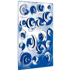 Sculptural Steel Wall Hanging with Optical Design, Signed M. Brandon