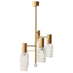 Brass Pendant Light by Helena Tynell for Glashütte Limburg, Germany, 1970s