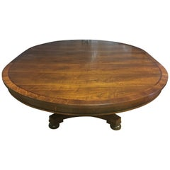 Monumental Ralph Lauren Henredon Pedestal Dining Room Table