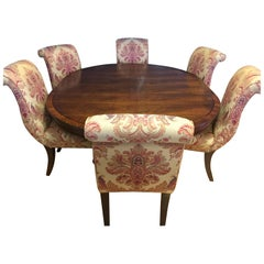 Ralph Lauren Henredon Dining Room Set Table and Six Hitchcock Chairs