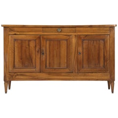 French Antique Directoire Style Buffet in Solid French Walnut