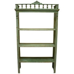 Pine Painted Utility Shelf or Bookshelf