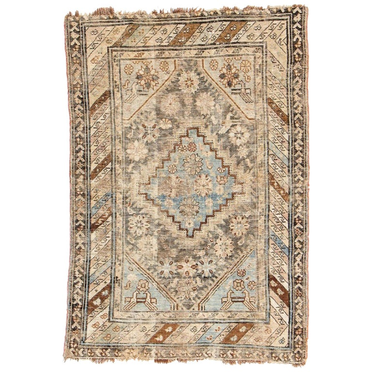 Antique Tribal Caucasian Kuba Rug For Sale