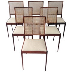 Set of Six Rosewood Chair by Unilabor