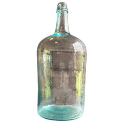 Large Blown Glass Bottle, 19th Century