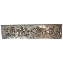 19th Century Silver Panel with Cherubs