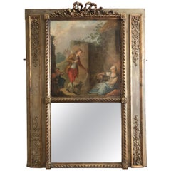 Antique French Trumeau Mirror, circa 1860