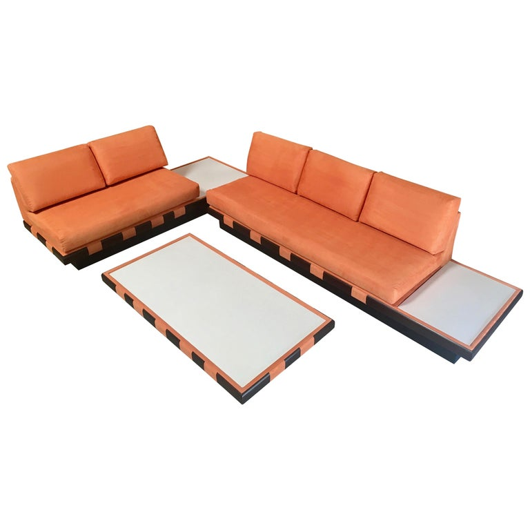 Adrian Pearsall Style Sofa Sectional and Coffee Table