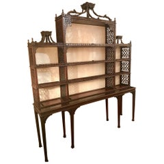 Antique 19th Century Chippendale Mahogany Display Cabinet