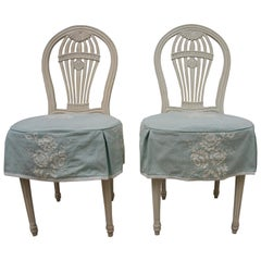 Set of Six Gustavian Style Balloon Back Chairs