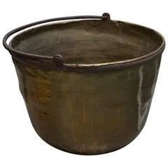 19th Century American Brass Caldron