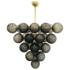 Frosted Smoky Grapes Chandelier