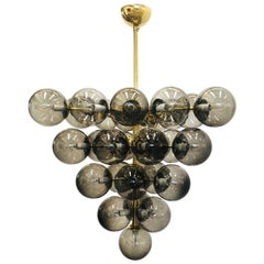 Smoky Bollicine Grapes Chandelier