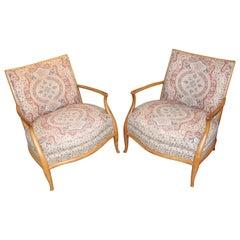 Nice Early Pair of Robsjohn-Gibbings Armchairs