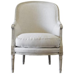 Early 20th Century Louis XVI Style Painted Bergère Chair