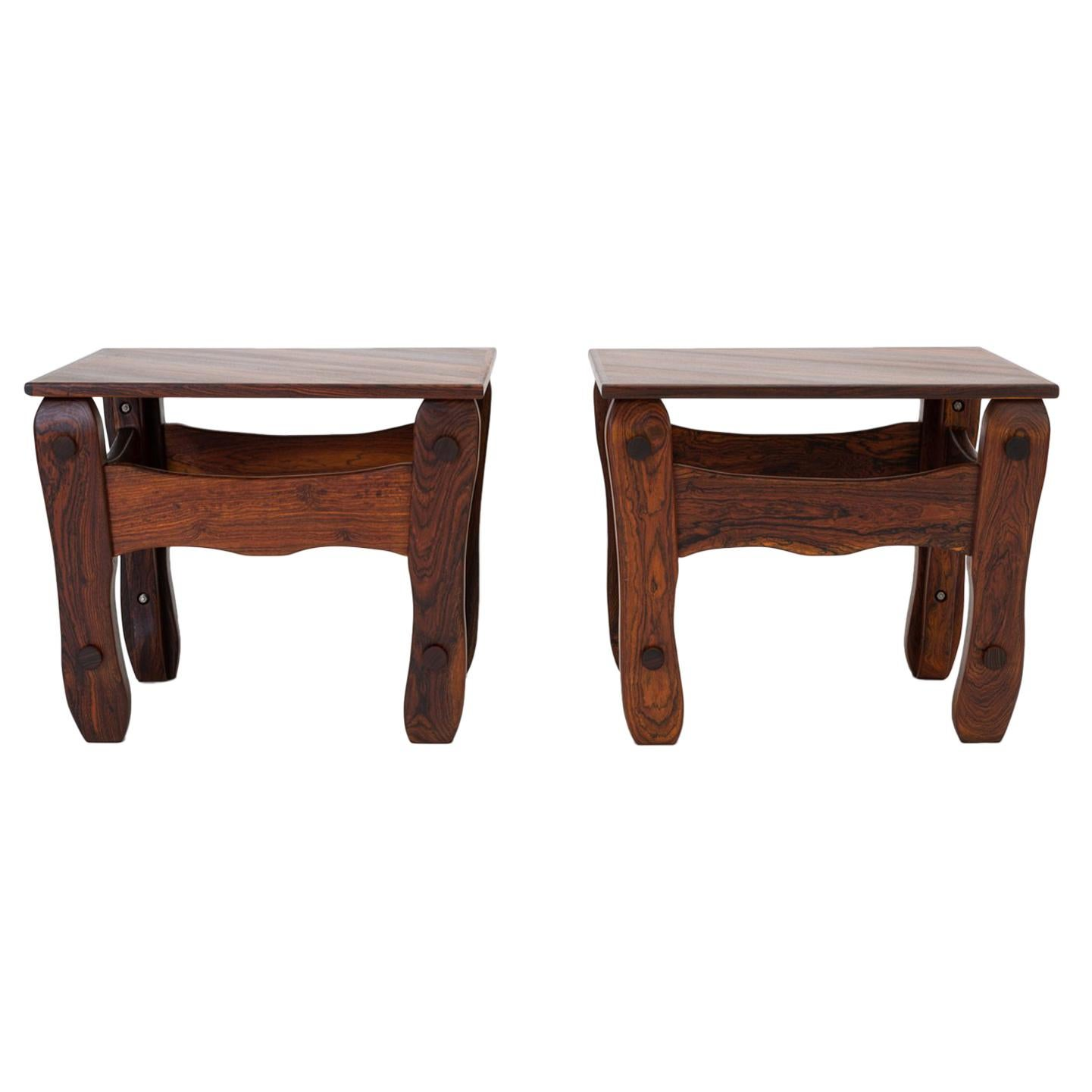 Pair Of Descanso Side Tables By Don Shoemaker For Señal In Cueramo Wood