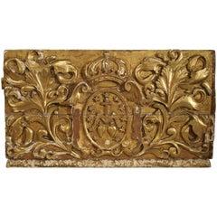 Large Spanish Giltwood Panel or Overdoor, circa 1850