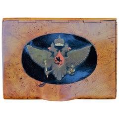 1880s Imperial Russian Faberge Romanov Burl Wood Presentation Cigarette Case
