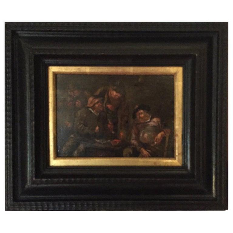 17th Century Dutch Oil Painting, Attributed Adriaen Van Ostade Framed