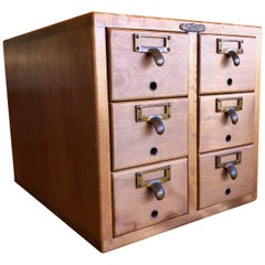 Six-Drawer Card Catalog by Remington Rand