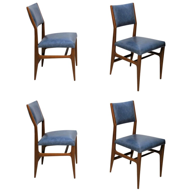 Gio Ponti Dining Chairs for Singer and Sons, Set of Four For Sale