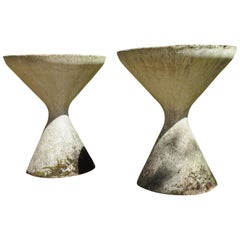 1960s Pair of Diablo Concrete Planters by Florastone