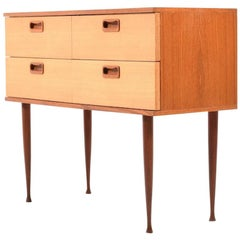 Early Danish Teak Chest of Drawer, 1950s
