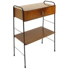 Italian Midcentury Teak Bed Side Table, 1960s
