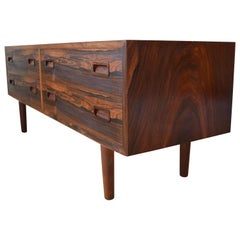 Rosewood 'Low-Boy' Double Chest by Poul Hundevad, 1960s
