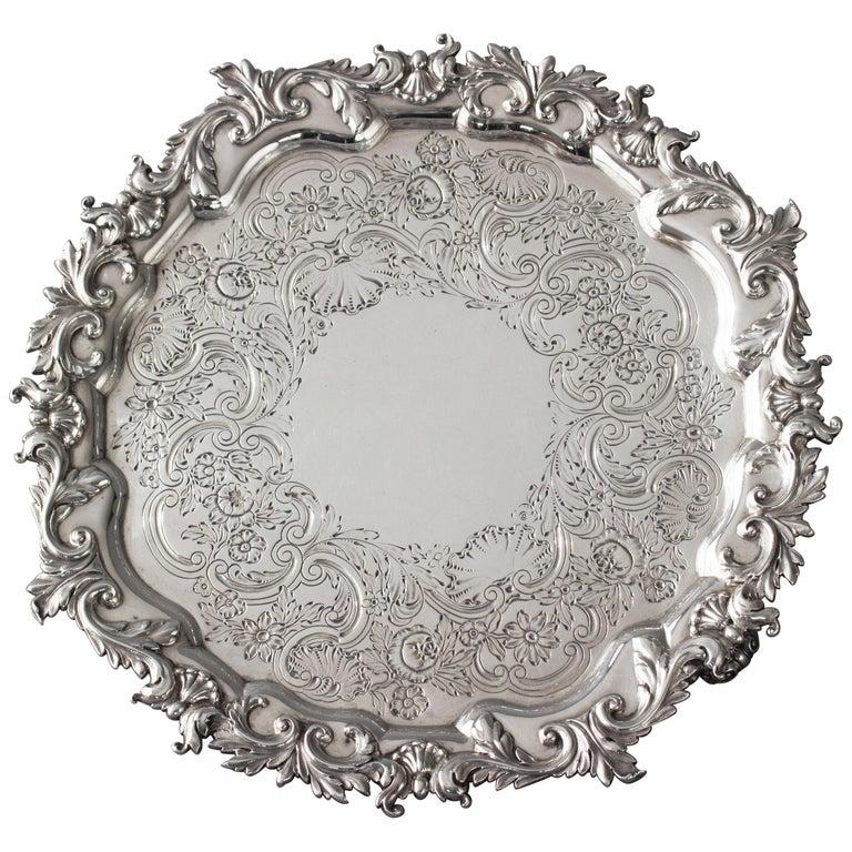 A Regency Silver Salver, London, 1823 by Paul Storr