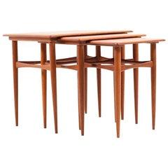 Midcentury Danish Nesting Tables in Teak