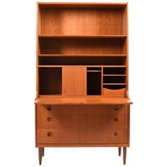 Midcentury Danish Secretary in Teak