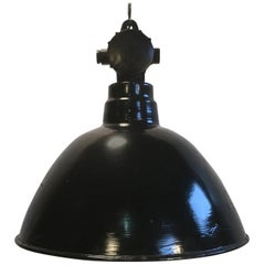 Two East German Industrial Factory Lamp