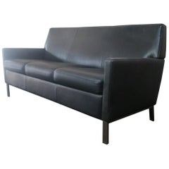 1970s Danish Midcentury Leather Sofa