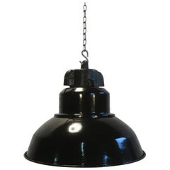 Eight Vintage Industrial Pendant Lamps