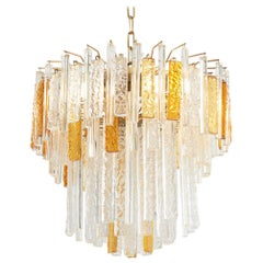 Italian Murano Glass Chandelier by Toni Zuccheri for Venini, 1960s