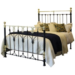 Art Nouveau Brass and Iron Bed MK152