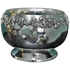 Brandimarte 20th Century Modern Silver Hammered Bowl, 1970s