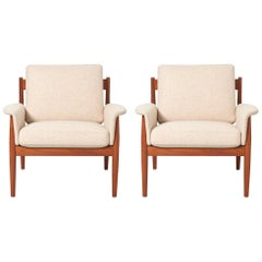Armchairs by Grete Jalk for France & Søn, 1960s, Set of Two