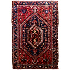 Antique Malayer Hamadan Rug/ Carpet, Persian, 1900-1920