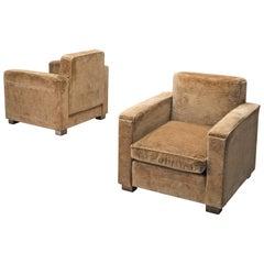 Melchiorre Bega Velvet Lounge Chairs, 1935