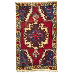 Vintage Turkish Oushak Rug, 1950s