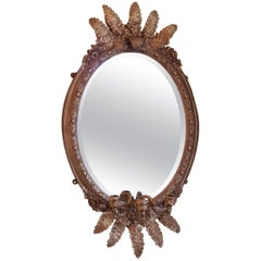Victorian Giltwood and Gesso Oval Wall Mirror