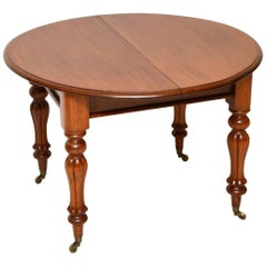 Antique William IV Round Extending Mahogany Dining Table