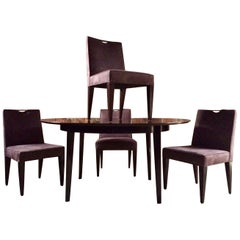Edward Wormley Dining Table and Four Chairs by Dunbar Owned Noel Gallagher Oasis