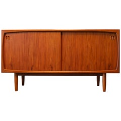 Vintage Danish Design Sideboard/Credenza by Dyrlund 1960s Teak Sculpted Brown
