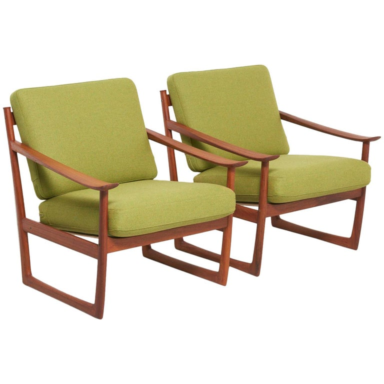 Pair of Lounge Chairs by Peter Hvidt & Orla Mølgaard Nielsen, 1960